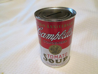 125th Anniversary Campbell's tomato soup advertising food coin piggy bank!