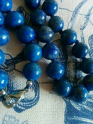 Real Lapis lazuli Blue bead 18 inch necklace
