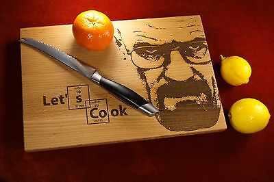 Kitchen Cutting Board, Breaking Bad gift, Lets Cook, Engraved Cheese Board