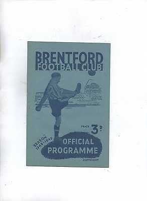 Brentford v Bradford for 1948/49 Season - Football League Div 2
