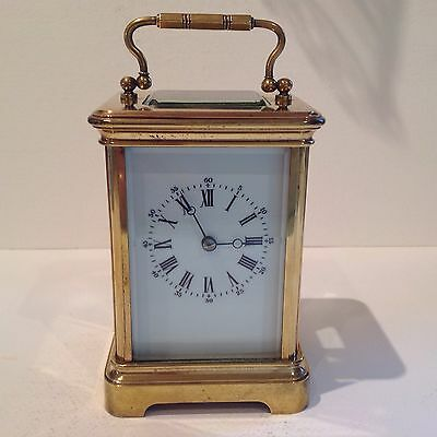 Stunning Antique French Carriage Clock Striking On A Bell