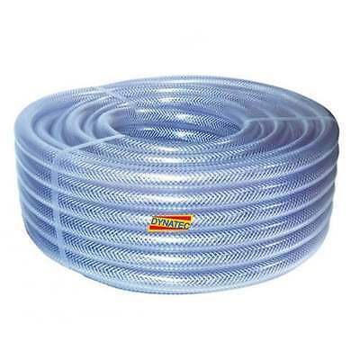 "1/4"" Dump-hose Powerflush 6mm Powerflushing Clear Braided Water Compressor Air"