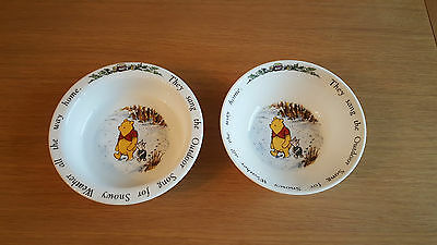Royal Doulton Winnie the Pooh - Snowy Weather dish & bowl - excellent condition