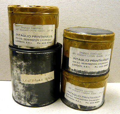 DRY PIGMENTS for ETCHING /PAINTING    -    VARIOUS BLACKS