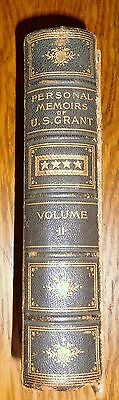 Personal Memoirs of Ulysses S. Grant FIRST EDITION, 1885  - Volume 2
