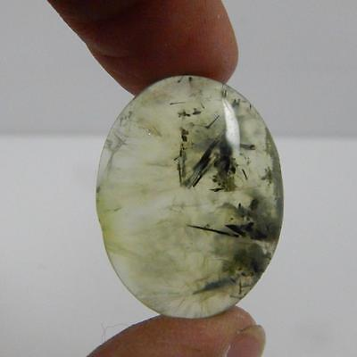 33.1 Cts 100% Natural Georgious Colour Green Prehnite Cabochon Gemstone A#26-135