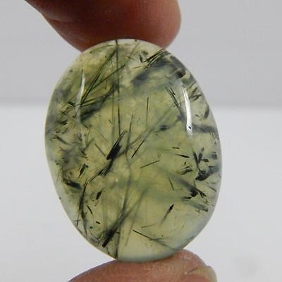 43.2 Cts 100% Natural Georgious Colour Green Prehnite Cabochon Gemstone A#26-43
