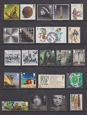 Recent GB High Value commeratives off paper 2008-2016 no duplication 2 scans
