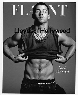 Nick Jonas  Beefcake Hunk  Singer Actor  On Cover Photograph