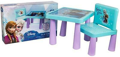 Disney Frozen Childrens Drawing Colouring Table Chair Set Kids Bedroom Playroom