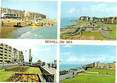 Bexhill on Sea - East Sussex - Multiview - Postcard 1984