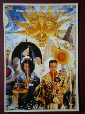 Postcard Musicians Tears For Fears - The Seed Of Love B30