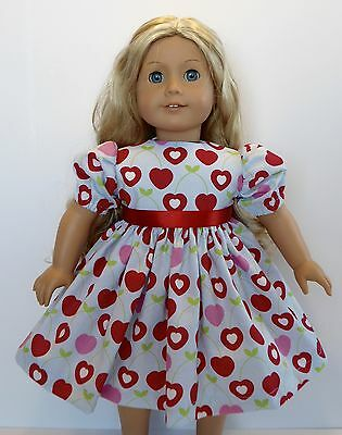 "New Doll Clothes Fits 18"" American Girl Doll Handmade Cherry Heart Dress"