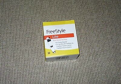 Freestyle Lite Blood Glucose Test Strips 50 Pack Sealed Unopened New