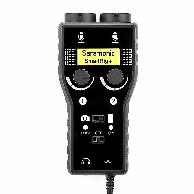 Saramonic SmartRig+ 2-Channel XLR/3.5mm Microphone Audio Mixer w/Phantom Power
