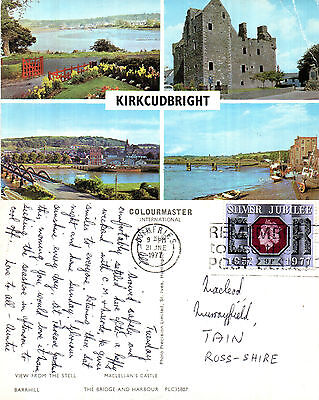 1977 Multi Views Of Kirkcudbright Kirkcudbrightshire Scotland Colour Postcard