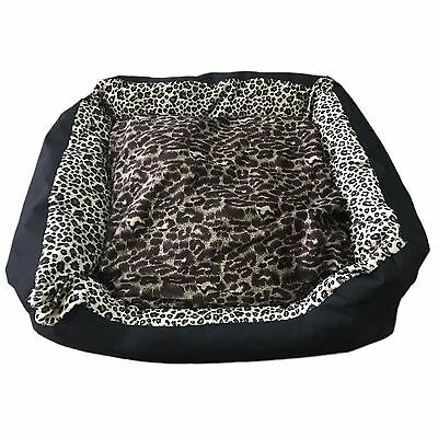 X Display Satin Soft Pet Bed Clearance - Cat Print And Jungle Print - Small