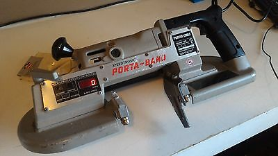 PORTER CABLE Porta Band 736 EXTRA Heavy Duty Saw SPEED TRONIC VARIABLE SpeedS