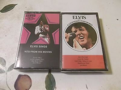 Elvis Presley  2 Sealed Mint Cassettes Hits From  Movies & Legendary Performer