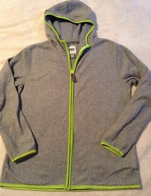 Boys Large 10-12 Old Navy Fleece Zip Front Hooded Jacket Gray