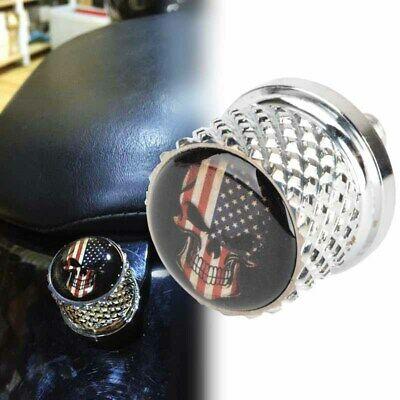 Motorcycle Chrome American Flag Stainless Steel Seat Bolt Billet Suit for Harley