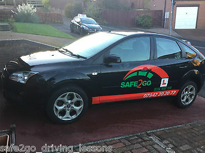 2008 FORD FOCUS STYLE DIESEL BLACK Driving School Car with dual controls