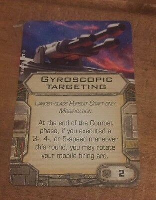 X Wing Miniatures Game Upgrade Card - GYROSCOPIC TARGETING