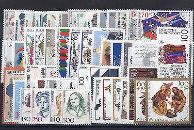 Allemagne Federale: Annee 1989 Complete De 47 Timbres Neuf** N°1229/1275 C: 130€