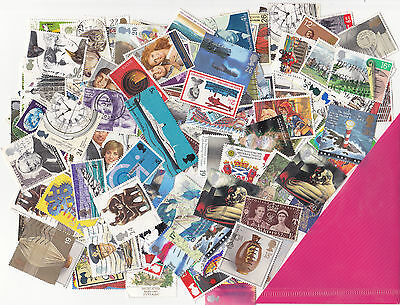 500+ G/B used Commemoratives (no xmas) Off paper in good condition