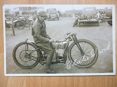 Charlie Ward Motorcycle Rider Speedway (?)  Sneath Sheffield Yorkshire Publisher