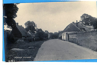 FOXTON VILLAGE  REAL PHOTO BY UNKNOWN PUBLISHER- Addressed but not posted