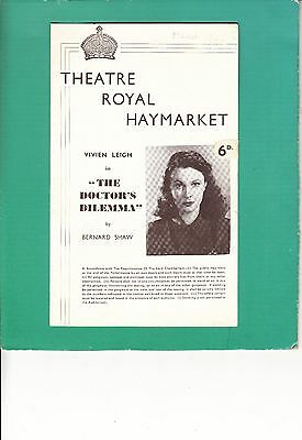 1942 Theatre Programme - VIVIEN LEIGH in THE DOCTOR'S DELEMMA