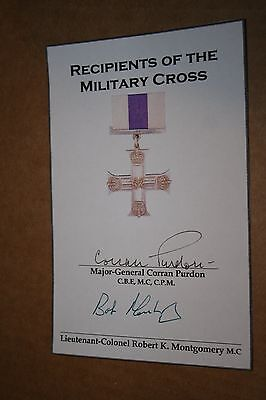 Military Cross St. Nazaire Signed Book Plate
