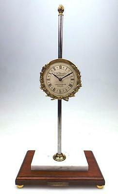 Unusual Vintage English T W Basely Cheltenham Mystery Gravity Table/Mantel Clock