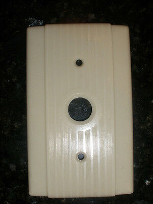 Vintage 1940s 1950s Mid-Century Hubbell Bakelite Push Button Light Switch Plate