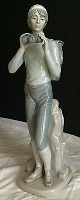 "Lladro Rare ""the Hiker"" Hand Made Porcelain Figure #5280 Retired 12 1/2"""