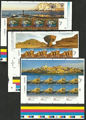 Israel 2012 Stamp Sheets Imperforate Imperf Tourism - Visit Israel+ Long Tabs
