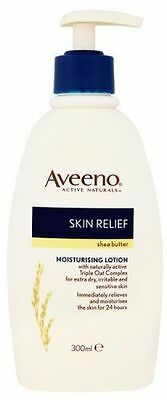Aveeno Body Lotion Shea Butter Skin Relief Moisturising 300ml