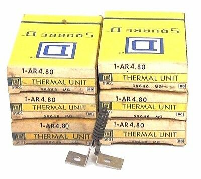 Lot Of 6 Nib Square D Ar4.80 Thermal Unit 58646, 1-Ar4.80