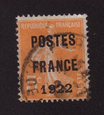 Preoblitere N°36 5 C Orange Semeuse Camee Poste France 1922 36