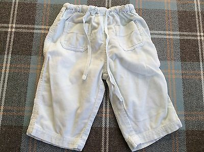 bonpoint baby blue trousers unisex age 6 months