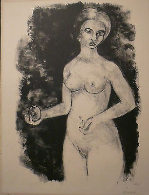 EVE by Andre Minaux - Rare original lithograph 26/50 - Collectors piece
