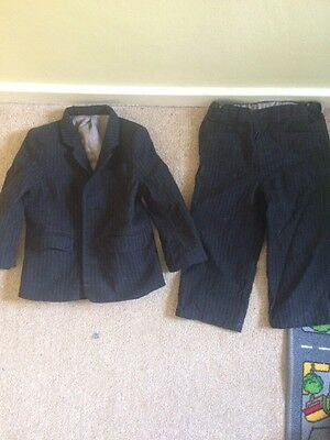 boys pinstripe suit Age 2-3 Jacket And Trousers