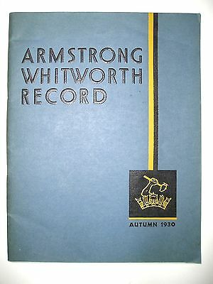 1930 Advertising Booklet for Mfg. of Marine Engines and Cars, Armstrong, Whitwor
