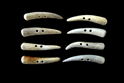 """Antler Buttons,2  1/4"""" Toggles,tines,crafts,8 Nice Thinner Pieces,214-25"""