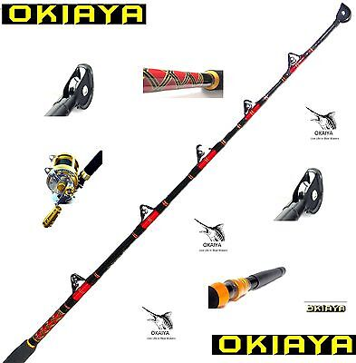 "Okiaya Composit 80-130Lb ""the Bosshoss"" Saltwater Big Game Roller Rod"