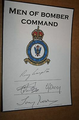 RAF Bomber Command 617 Dam Busters Sqn Multi Signed Book Plate DFC DFM