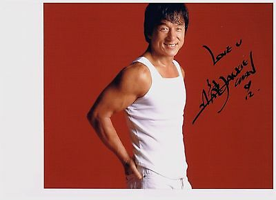 Jackie Chan  8 x 10  Authentic Hand Signed Autographed Photo W/COA