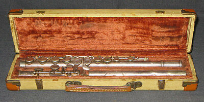 Vintage 1957 Artley Metal Flute #37844 With Case