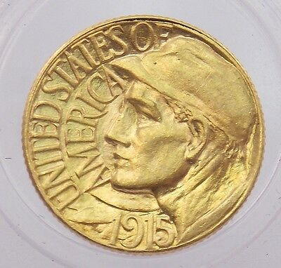 1915 S Panama-Pacific Exposition $1 Dollar Gold Commemorative Coin (#4182)